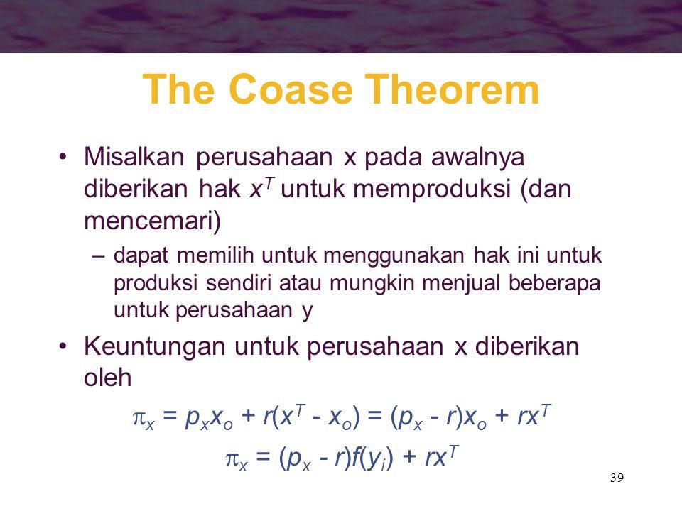 x = pxxo + r(xT - xo) = (px - r)xo + rxT