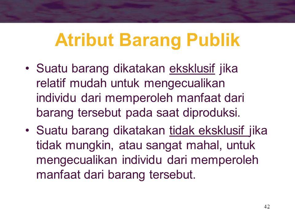 Atribut Barang Publik