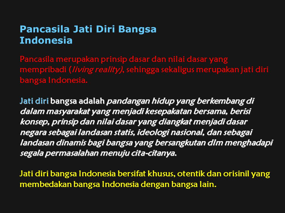 Pancasila Jati Diri Bangsa Indonesia