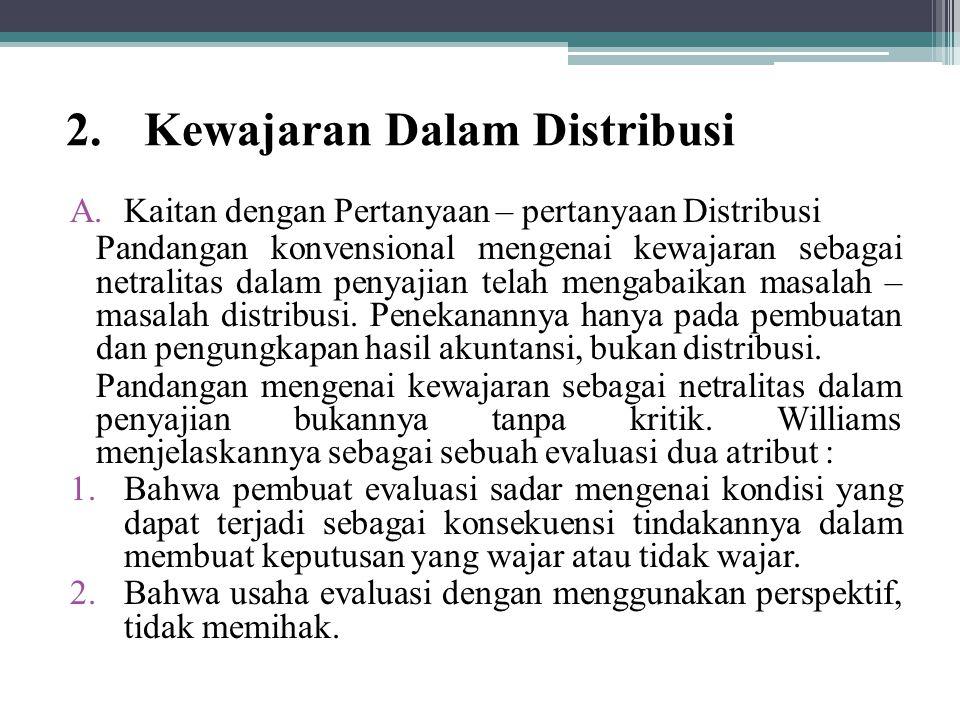 Kewajaran Dalam Distribusi