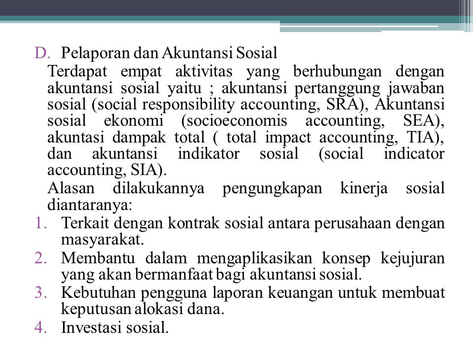 Pelaporan dan Akuntansi Sosial