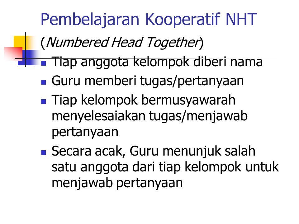 Pembelajaran Kooperatif NHT