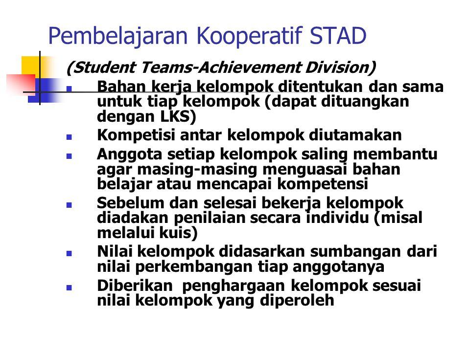 Pembelajaran Kooperatif STAD