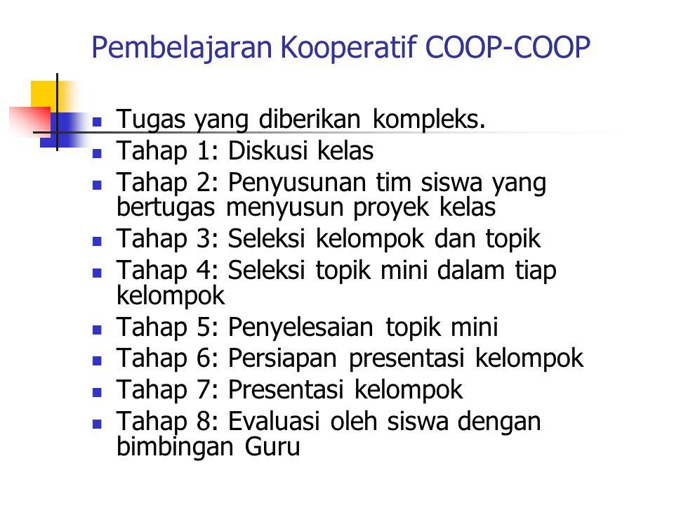 Pembelajaran Kooperatif COOP-COOP