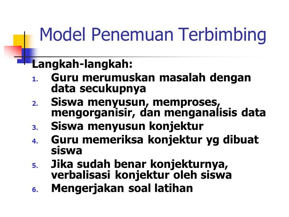 Model Penemuan Terbimbing
