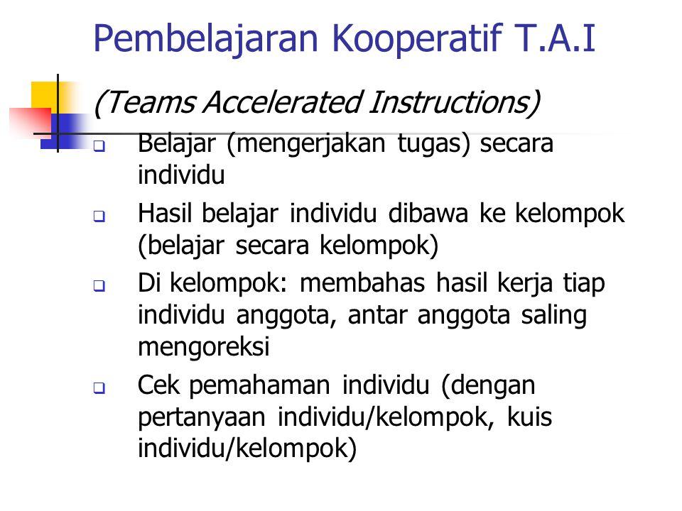 Pembelajaran Kooperatif T.A.I