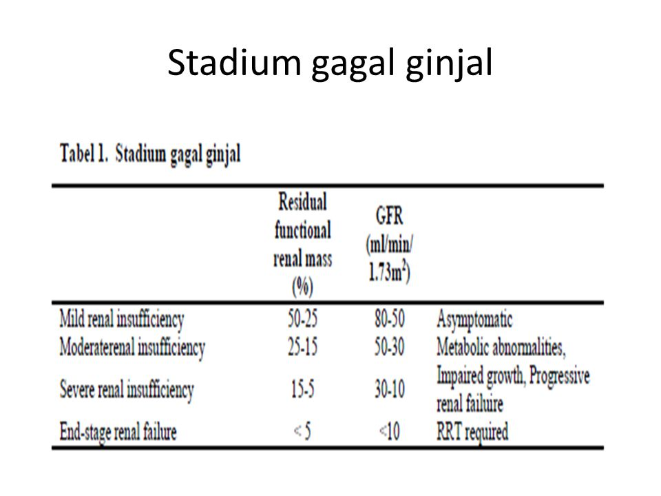 Stadium gagal ginjal