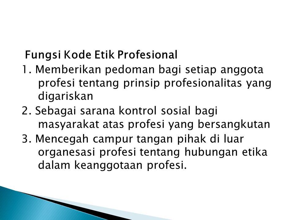 Fungsi Kode Etik Profesional 1