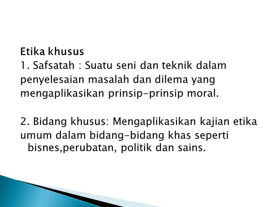 Etika khusus 1.