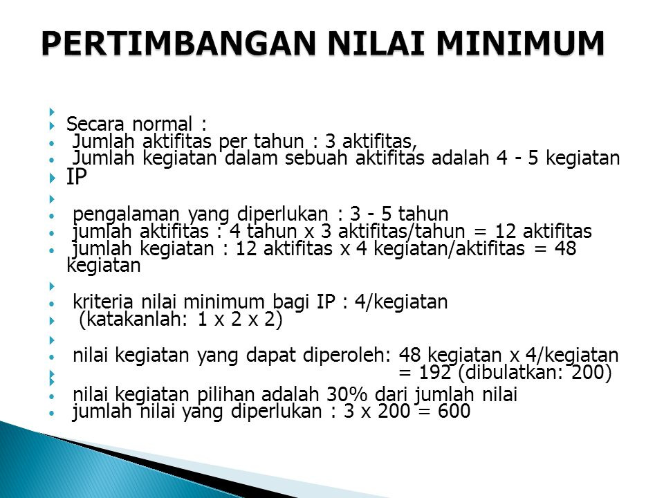 PERTIMBANGAN NILAI MINIMUM