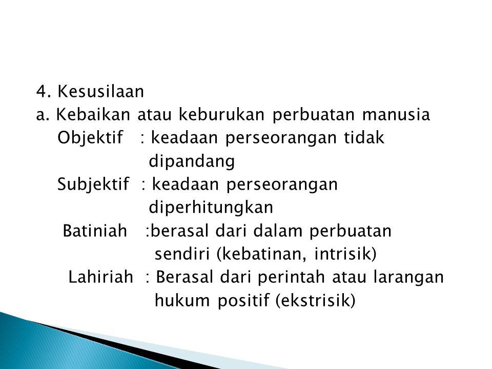 4. Kesusilaan a.