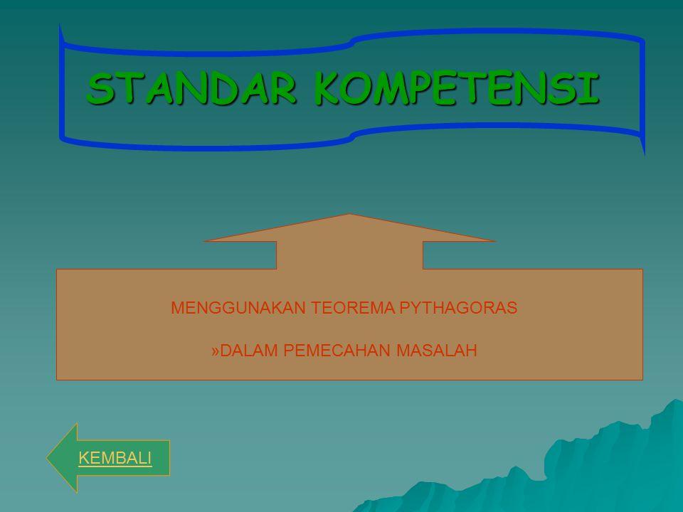 STANDAR KOMPETENSI MENGGUNAKAN TEOREMA PYTHAGORAS