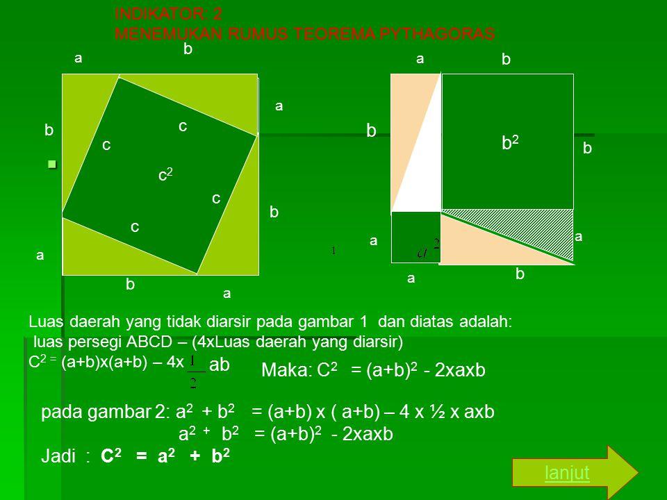 www b b2 ab Maka: C2 = (a+b)2 - 2xaxb