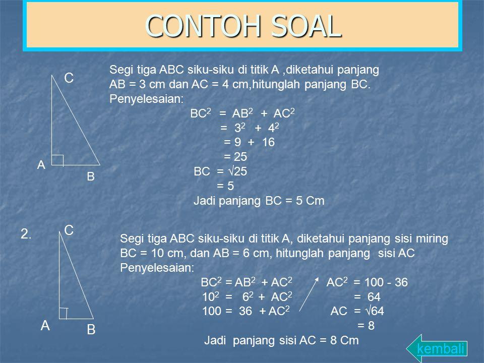 CONTOH SOAL C C 2. A B kembali