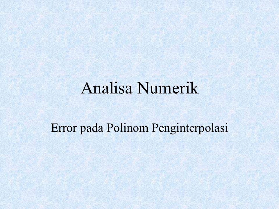 Error pada Polinom Penginterpolasi