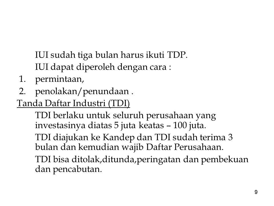 IUI sudah tiga bulan harus ikuti TDP.