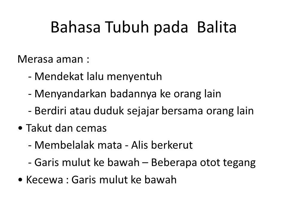 Bahasa Tubuh pada Balita