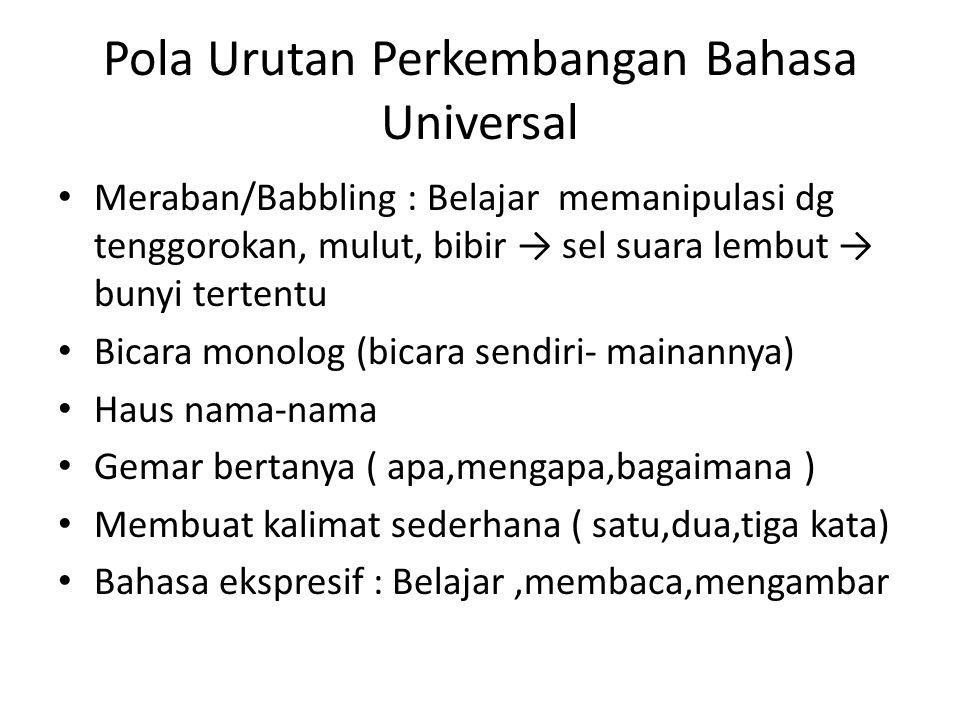Pola Urutan Perkembangan Bahasa Universal