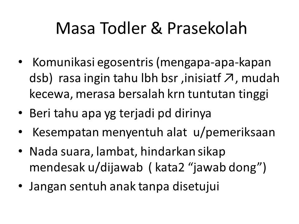 Masa Todler & Prasekolah