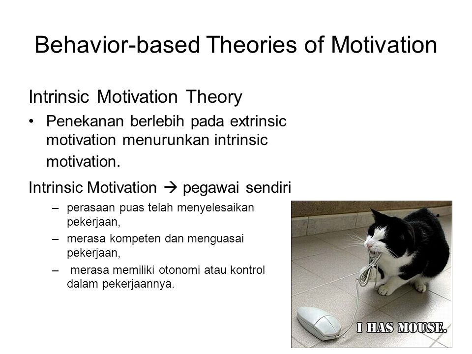 Behavior-based Theories of Motivation