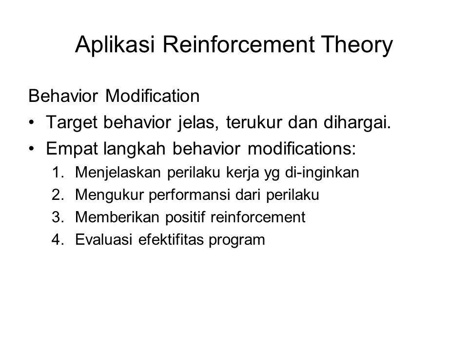 Aplikasi Reinforcement Theory