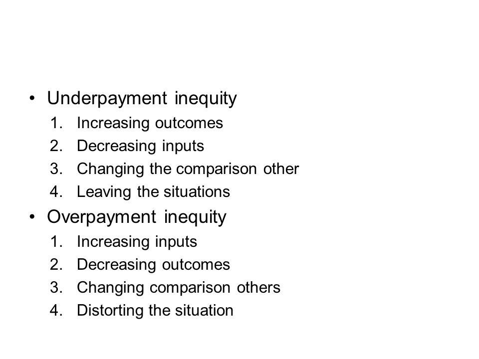 Underpayment inequity