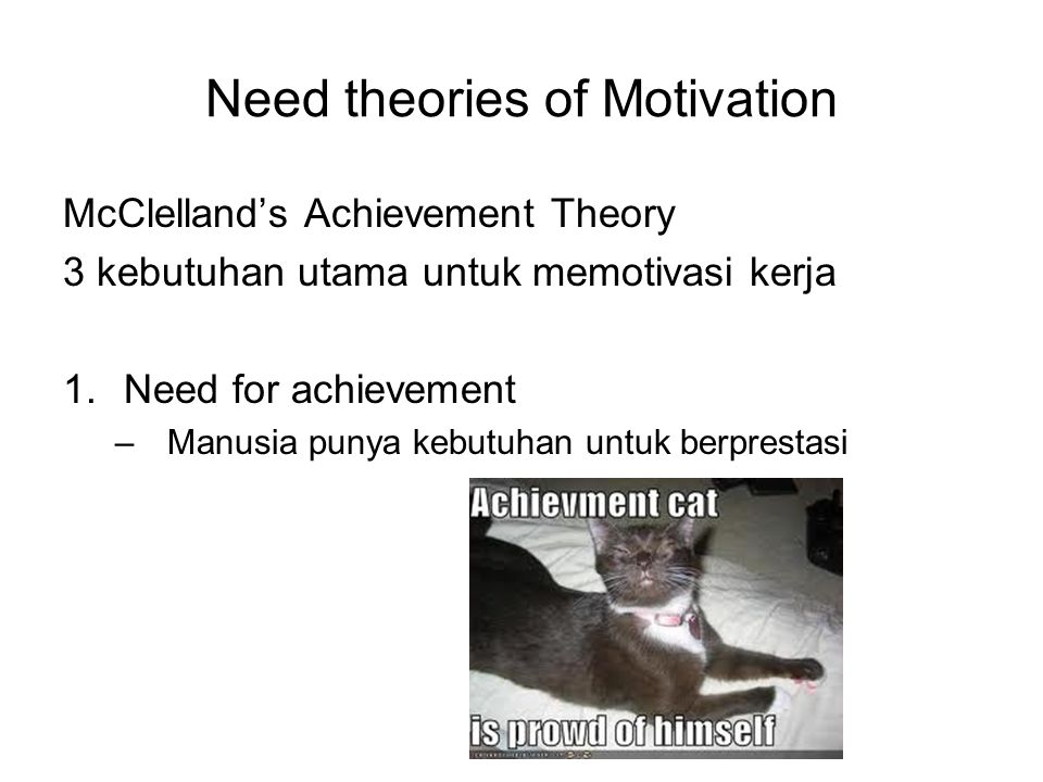 Need theories of Motivation