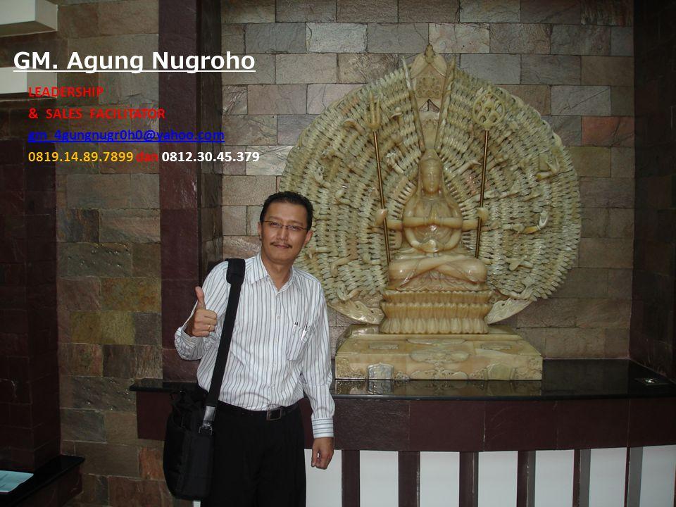 GM. Agung Nugroho LEADERSHIP & SALES FACILITATOR