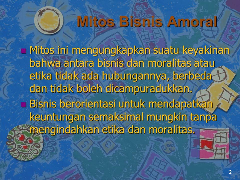 Mitos Bisnis Amoral
