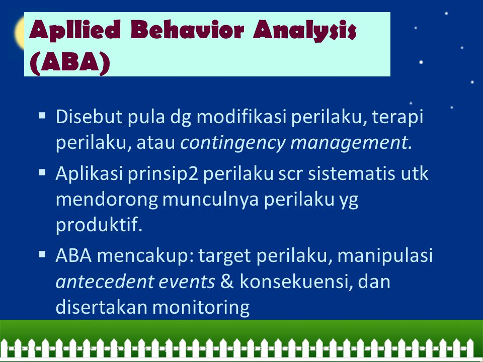 Apllied Behavior Analysis (ABA)