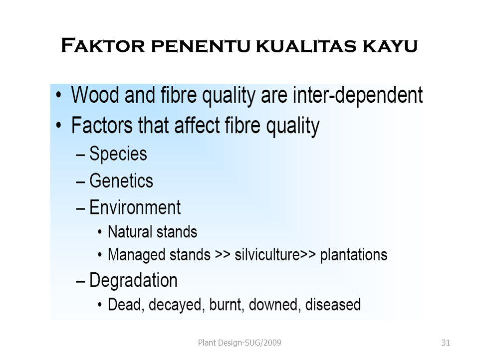 Faktor penentu kualitas kayu