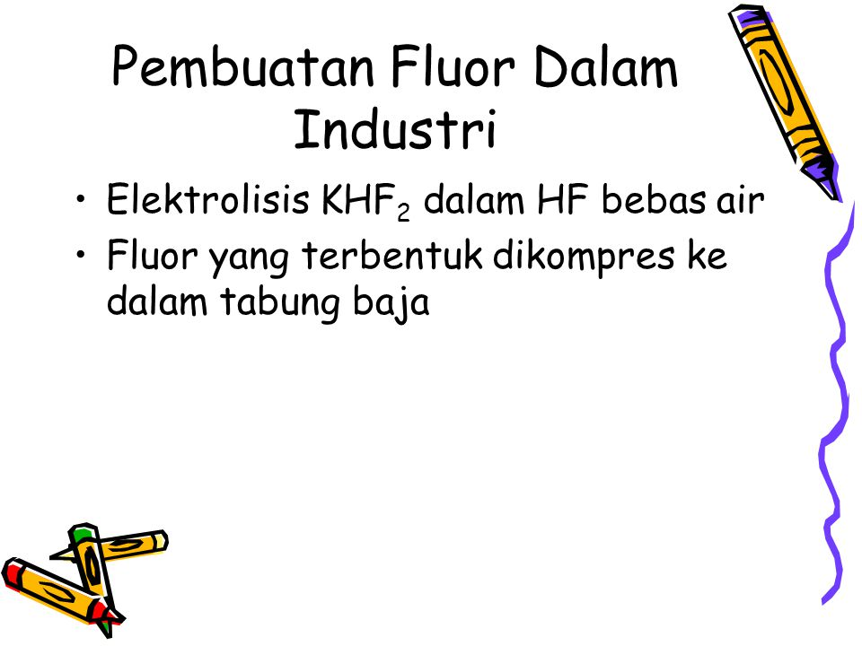 Pembuatan Fluor Dalam Industri