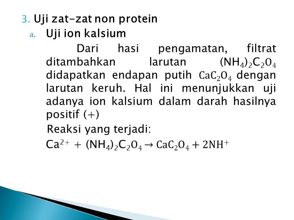 3. Uji zat-zat non protein