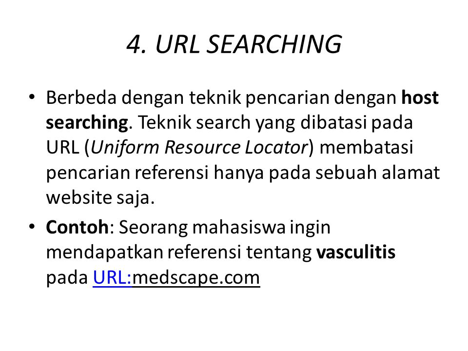 4. URL SEARCHING