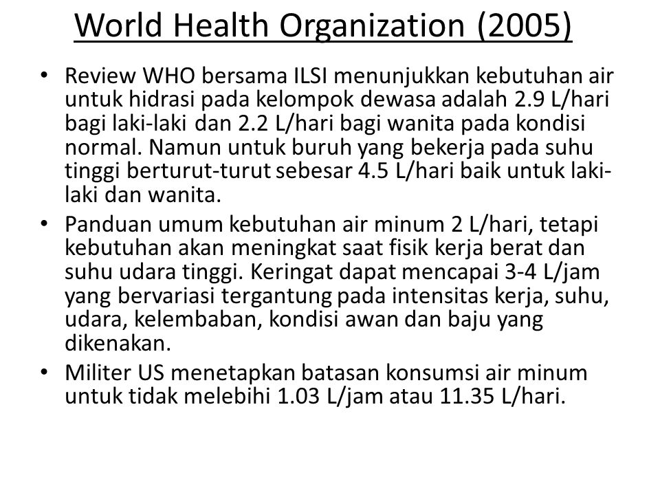 World Health Organization (2005)