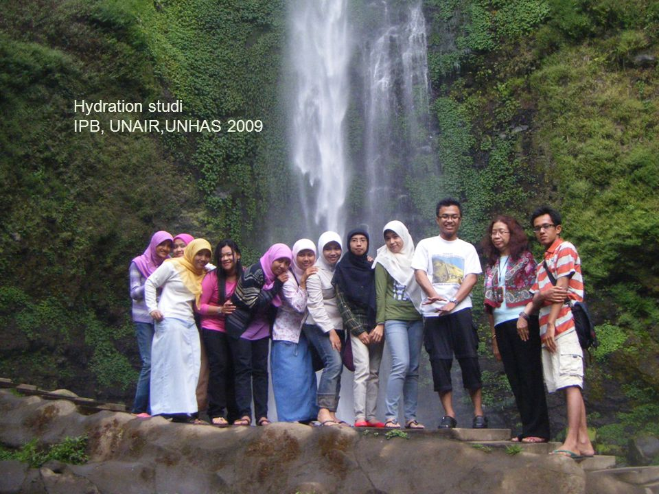 Hydration studi IPB, UNAIR,UNHAS 2009