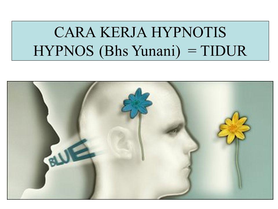 HYPNOS (Bhs Yunani) = TIDUR