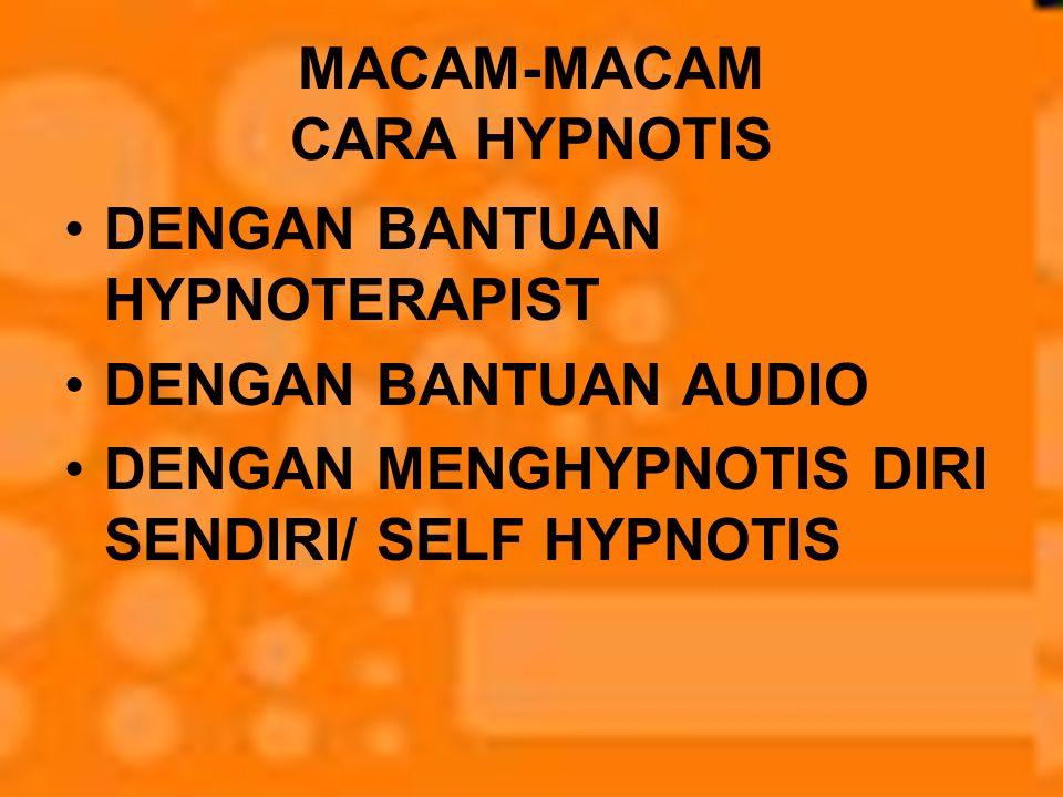 MACAM-MACAM CARA HYPNOTIS