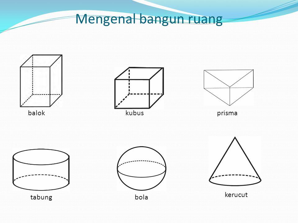 Mengenal bangun ruang balok kubus prisma kerucut tabung bola