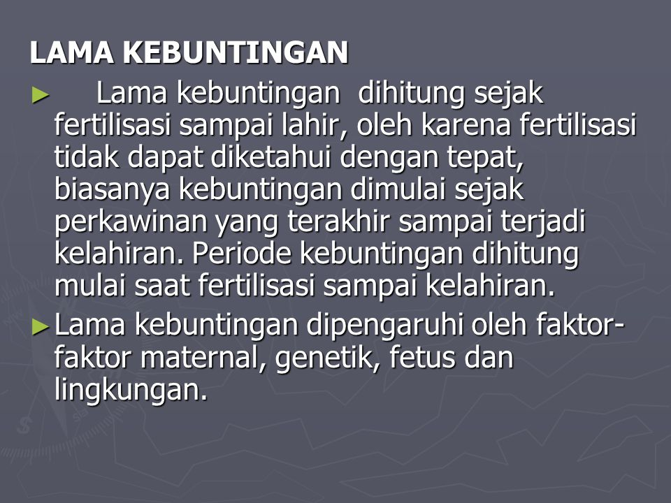 LAMA KEBUNTINGAN