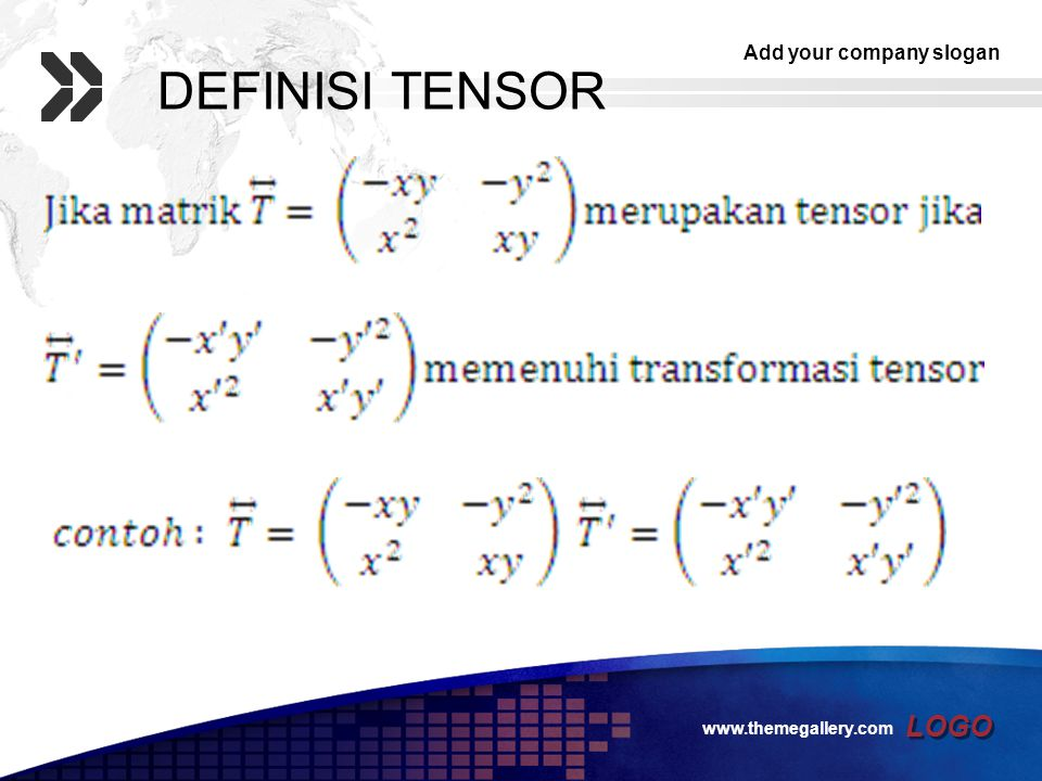 DEFINISI TENSOR www.themegallery.com