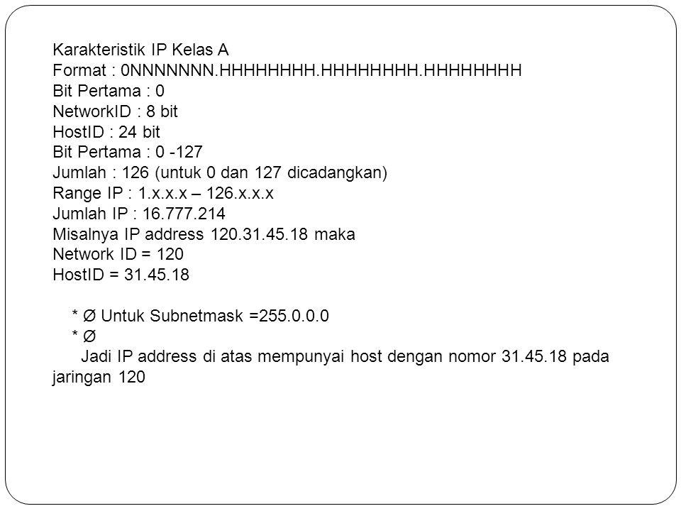 Karakteristik IP Kelas A