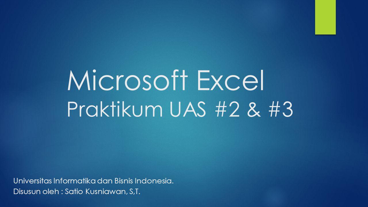 Microsoft Excel Praktikum UAS #2 & #3