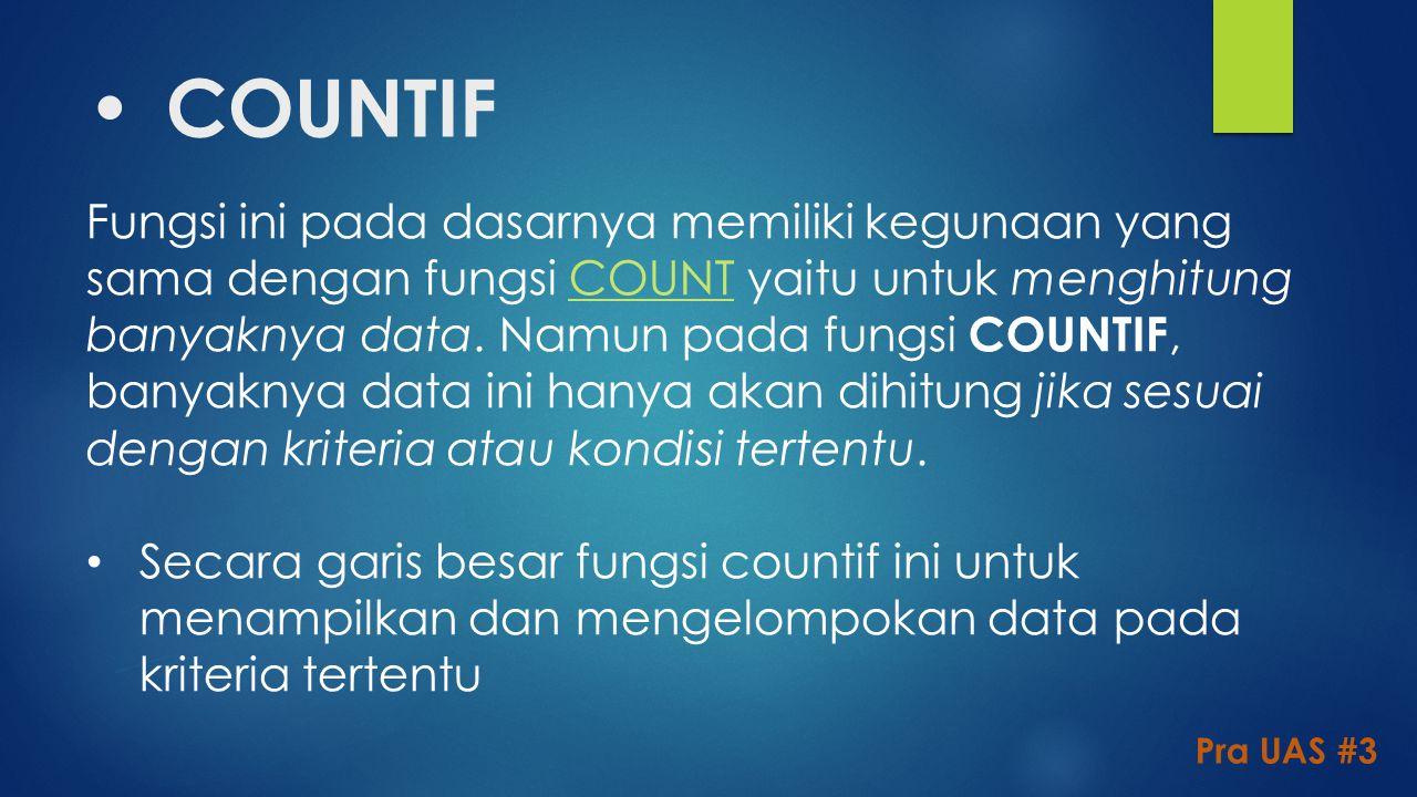 COUNTIF