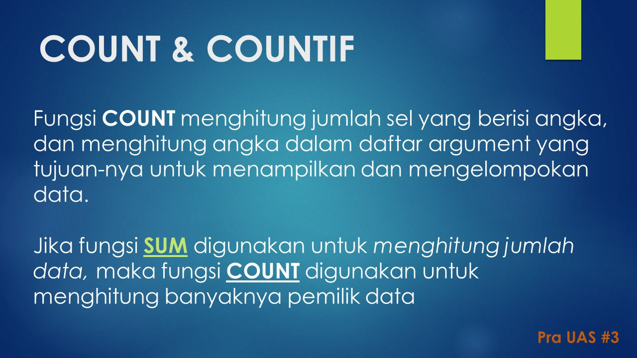 COUNT & COUNTIF