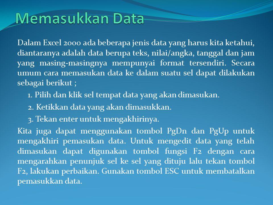 Memasukkan Data