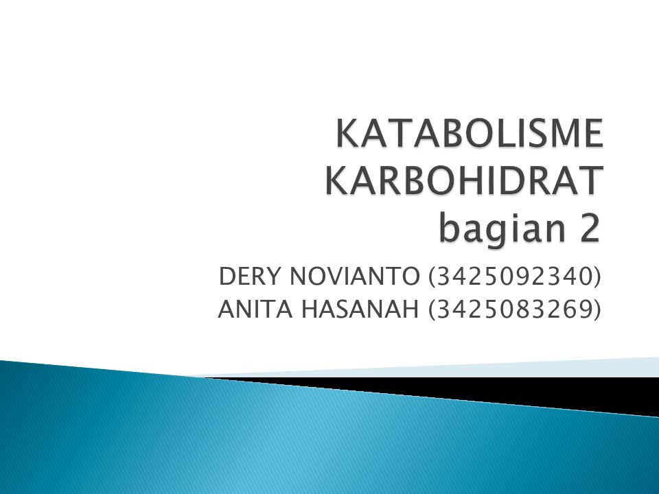 KATABOLISME KARBOHIDRAT bagian 2