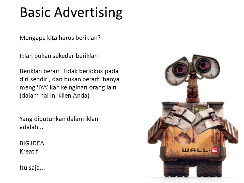 Basic Advertising Mengapa kita harus beriklan