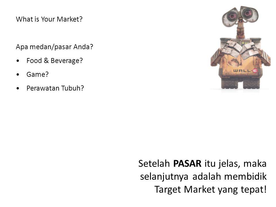What is Your Market Apa medan/pasar Anda Food & Beverage Game Perawatan Tubuh