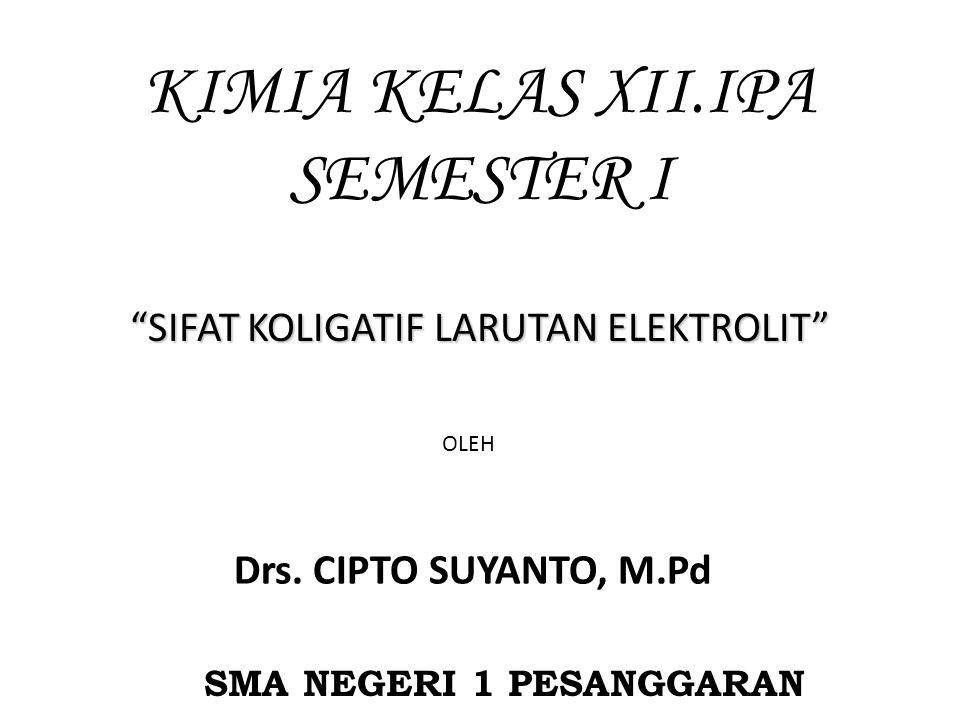 KIMIA KELAS XII.IPA SEMESTER I